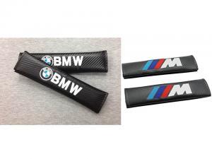 BMW, M Tech bälteskuddar i kolfiber. Kuddar till bilbälte