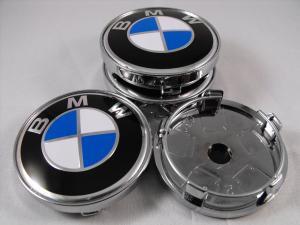 Centrumkåpor BMW original blå fälgemblem (60 mm)