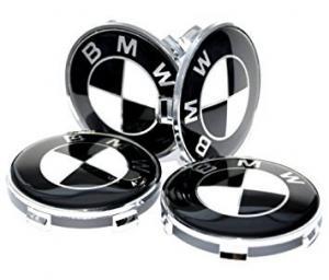 BMW centrumkåpor svarta 56, 60, 68 mm 4st