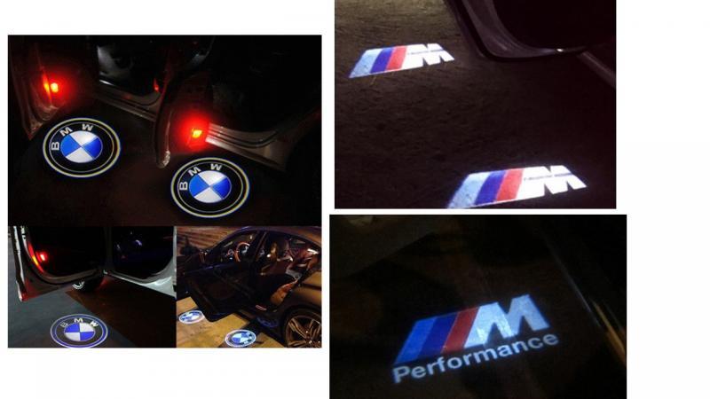 BMW logo dörrbelysning dörrlampor LED logo