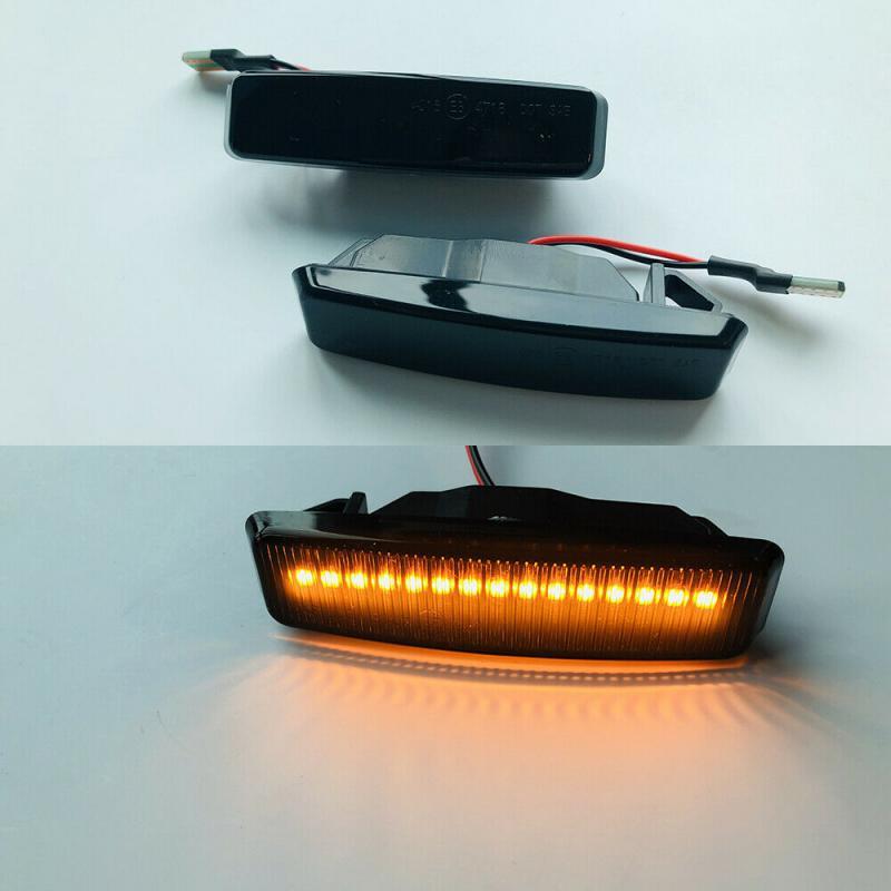 BMW E39 5 serie DRL LED blinkers i svart till bilen