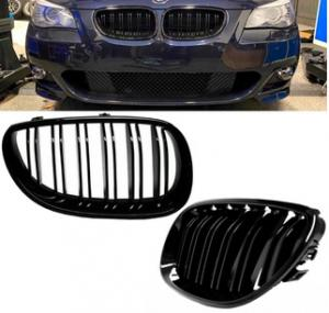 BMW E60, E61 grill njurar i glansigt svart för 5 serien