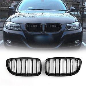 BMW E90, E91 grill njurar i glansigt svart för 3 serien