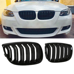 BMW E92 grill njurar i glansigt svart för 3 serien