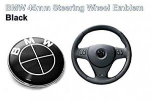 BMW emblem till ratten i helsvart. 45 mm