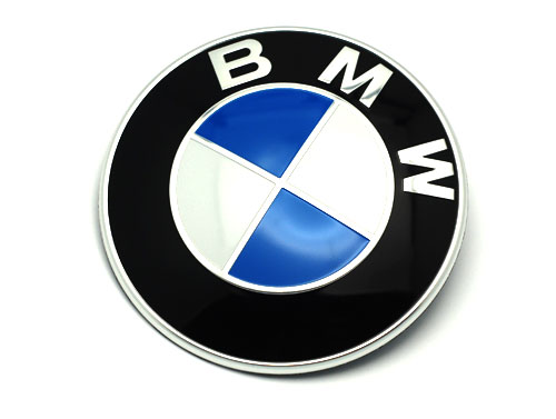 bmw logo emblem original till nya bmw fr n 2010 2017 82mm. Black Bedroom Furniture Sets. Home Design Ideas