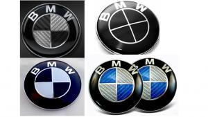 BMW logo emblem i flera färger till motorhuv baklucka