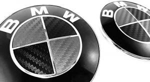 BMW emblem 3D sticker i äkta kolfiber till din bil