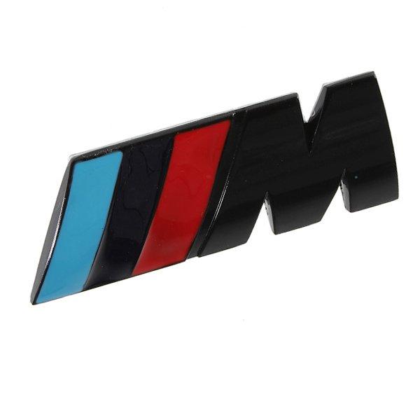BMW M logo emblem i mattsvart till din bil
