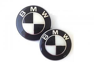BMW logo emblem i svart till baklucka/ huv 74 & 82 mm