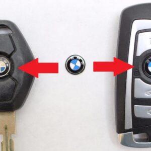 2 pack BMW logo emblem 11 mm nyckelemblem