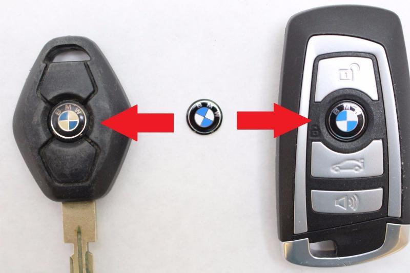 BMW logo emblem / märke till bilnyckeln 2pack 11 mm