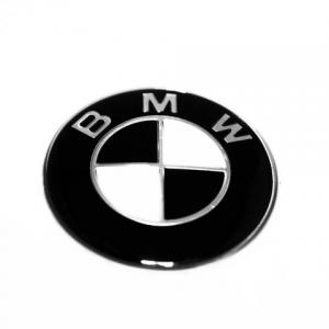 BMW emblem till ratten i svart 45 mm rattemblem
