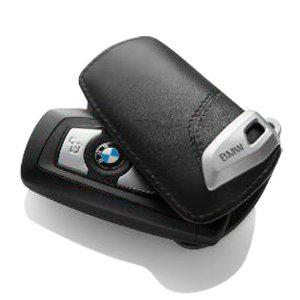 BMW nyckelfodral etui i svart läder. Original modell