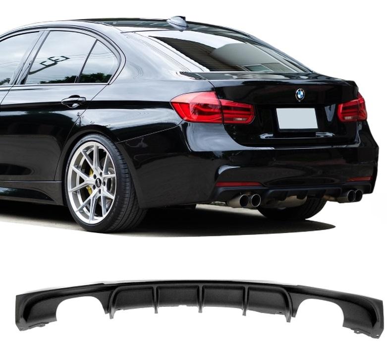 BMW F30, F31 3 Serie diffusor för 4 utblås duplex svart