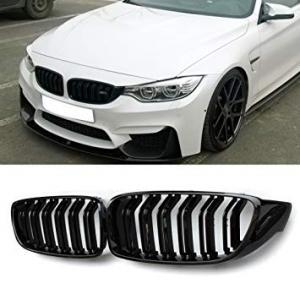 BMW F32, F33, F36, M4 svart grill njurar dubbelribb