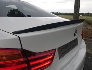 BMW F32, 4 serie vinge läpp till bagageluckan i matt svart