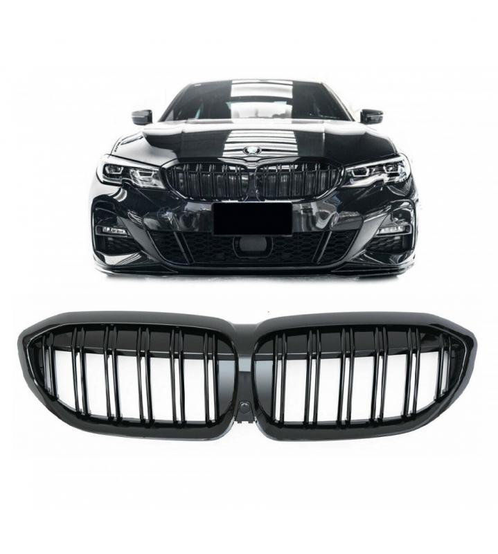 BMW 3-serie G20 grill njurar i svart kamerahål
