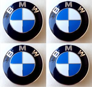 BMW + M logo hjulnav emblem 56mm 4-pack
