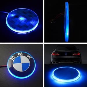 BMW logo emblem med LED lampor 82 mm 3 färger