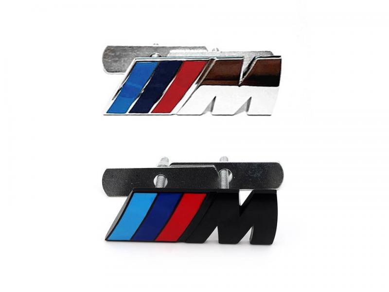 BMW M logo märke emblem till grillen. Grillemblem