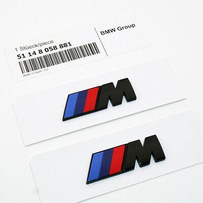 BMW M logo emblem i svart färg till bilen