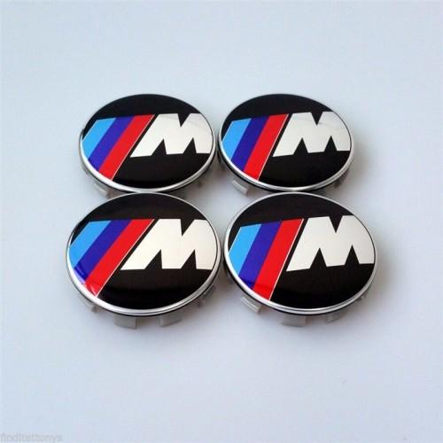 Centrumkåpor navkåpor BMW M logo 68 mm 4pack