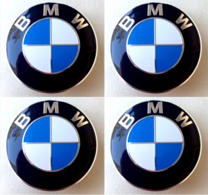 BMW hjulnav emblem fälgemblem 56 mm blåa