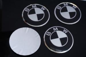 BMW hjulnav emblem fälgemblem 56 mm i svart