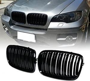 BMW X5 X6 E70 E71 grill njurar till bilen dubbelribb