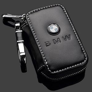 BMW nyckelfodral Rfid etui väska med dragkedja