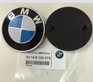 BMW logo emblem original till bilen 73, 78, 82 mm