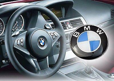 BMW emblem till ratten blå rattemblem 45mm