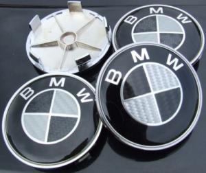 BMW fälgemblem centrumkåpor i äkta kolfiber 68 mm