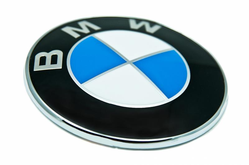 BMW logo emblem original till bilen 73, 78, 82 mm