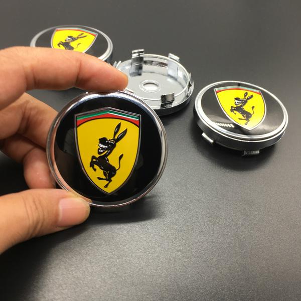 Coola 60mm centrumkåpor fake Ferrari med åsna