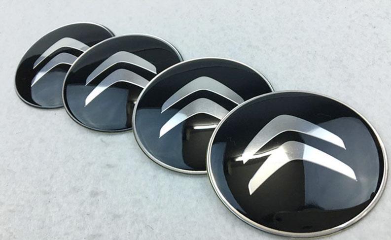 Citröen hjulnav emblem märke i svart 60, 65 mm
