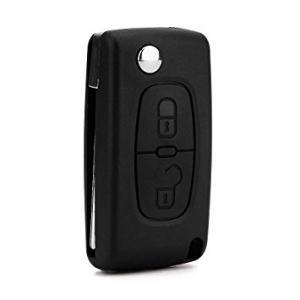 Citröen & Peugeot larmdosa nyckelskal med 2 knappar
