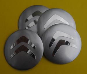 Citröen hjulnav emblem 56mm 4-pack silver