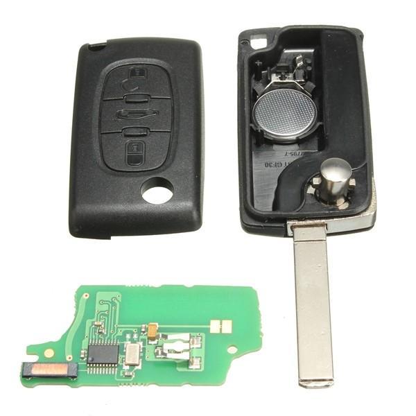 Peugeot Citröen 433 mhz nyckel med 3 knappar