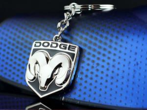 Dodge logo nyckelring nyckelhänge