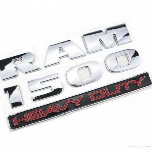DODGE RAM 1500 emblem i svart och silver