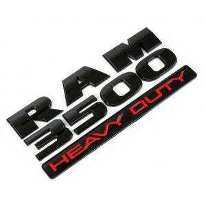 DODGE RAM 3500 emblem i svart och silver