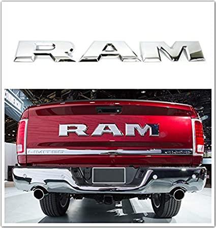 Dodge RAM logo stor emblem till bilen. Svart / silver