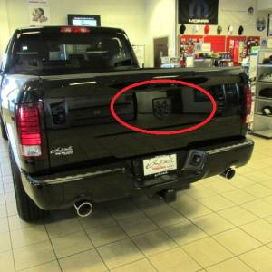 Dodge RAM döskalle skull emblem till huv och bak