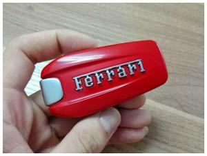 Ferrari nyckelskal bilnyckel larmdosa 4 knappar