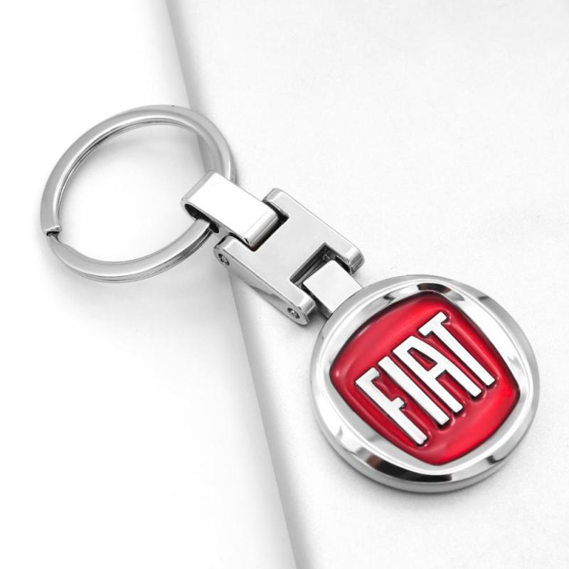 Fiat logo nyckelring nyckelhänge