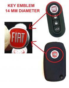 FIAT emblem till bilnycklarna 2-pack nyckelemblem