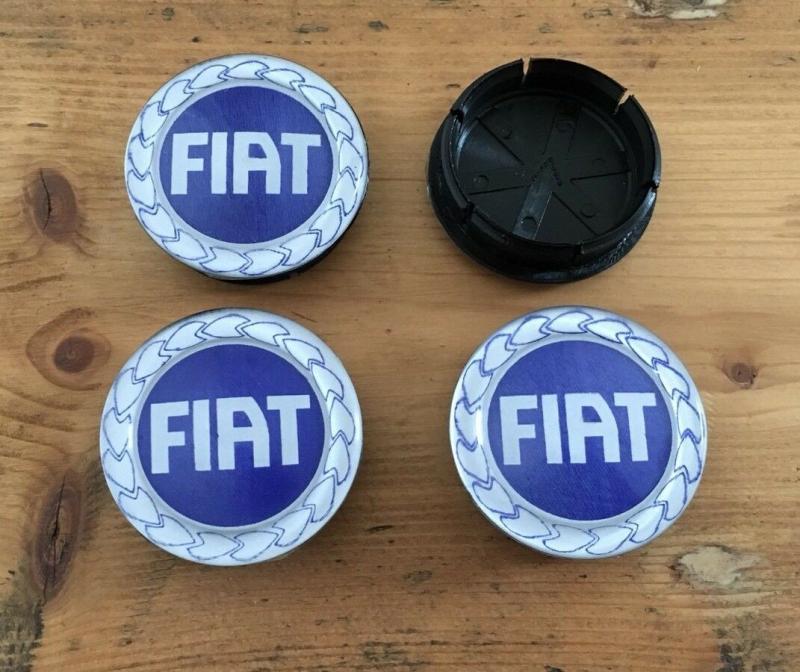 Fiat centrumkåpor navkåpor 50mm 4-pack