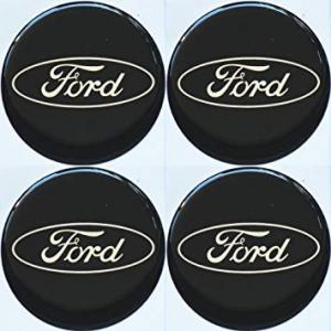 Ford märke hjulnav emblem. 4-pack 56, 65 mm